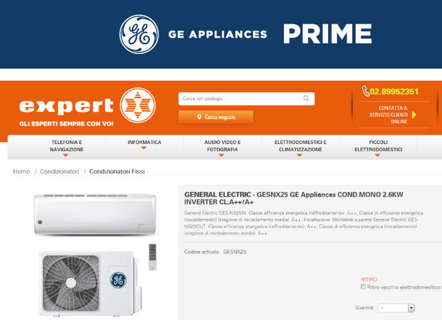 GE Appliances arriva da Expert
